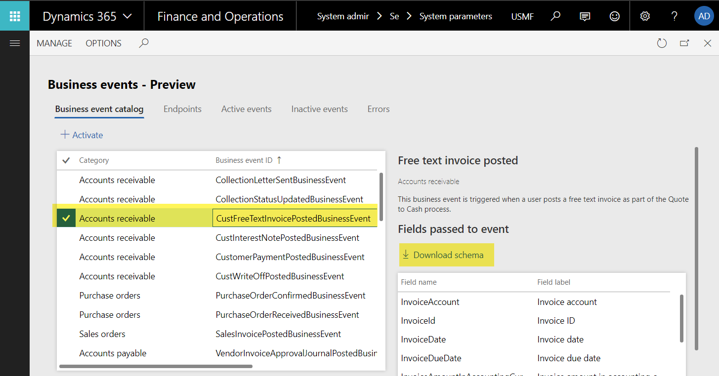 Set up Business Events with Microsoft Flow - Finance